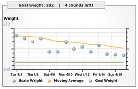 Google 15 Weight Tracker