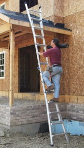Werner MT-22 300-Pound Duty Rating Telescoping Multi-Ladder - extended position