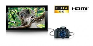 View your photos and videos directly on your HDTV via HDMI output